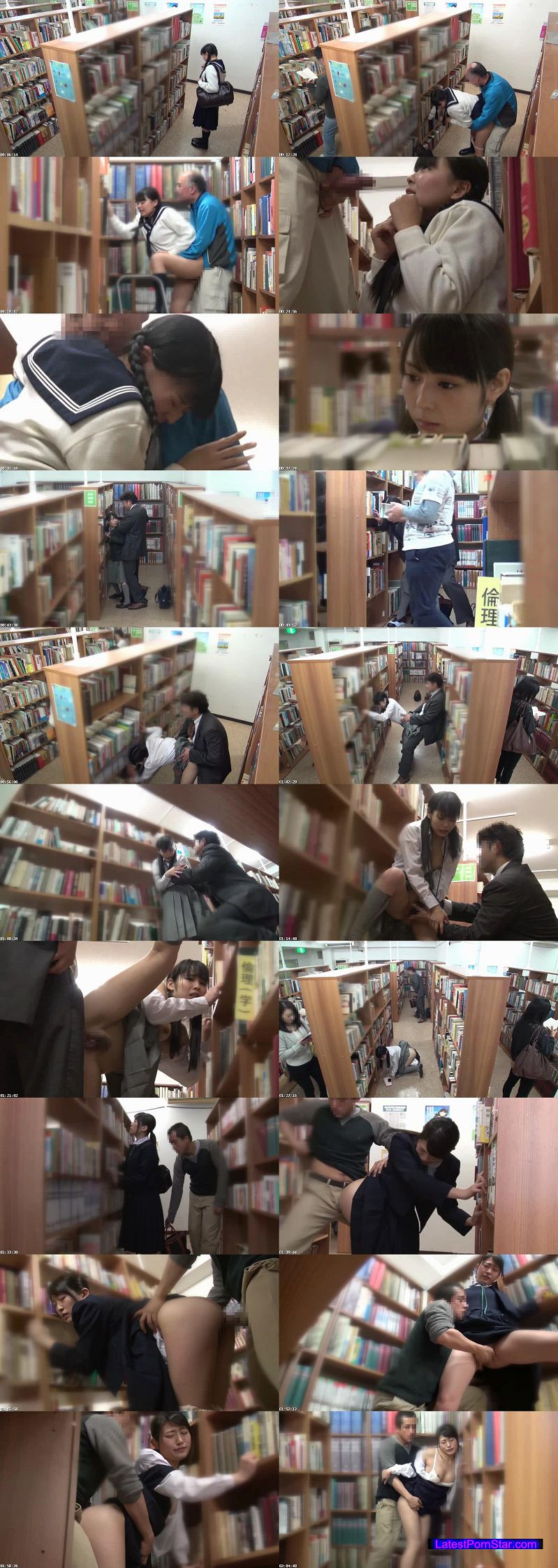 [DVDES-823] 公共施設で突然の強制わいせつ 声を出せない挿れっぱなし図書館 真面目な女子校生の未成熟なキツマンにデカチン即ハメ!合体したまま館内連れ回し!長時間挿入でガマンできずに無念の発情潮!!