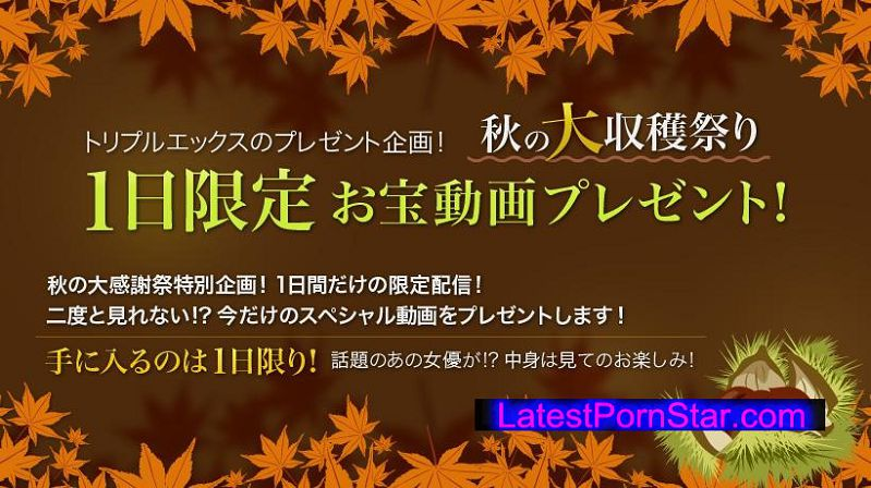 XXX-AV 22178 秋の大収穫祭り 1日限定お宝動画プレゼント!vol.13