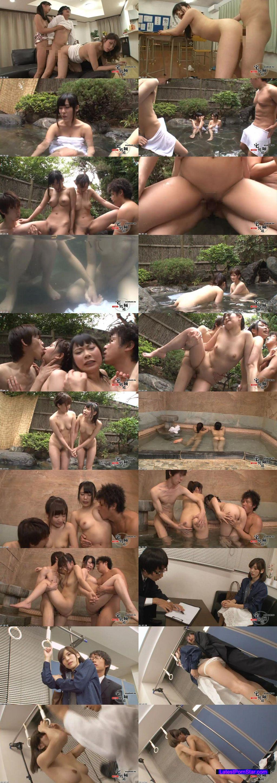 [AP-255] 3連続同時中出し痴漢 混浴温泉に来たウブ娘2人組に3連続同時中出し痴漢で精子の熱さで感じさせろ!