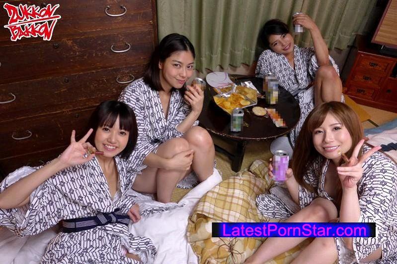 [ZUKO-091] 会社の先輩4人と研修旅行に来たから子作り