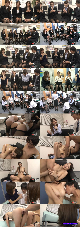 [HUNTA-079] 先輩OLに囲まれて残業中のオフィスで男は僕1人だけの王様ゲーム!やっとの思いで就職!できたけど…会社に男は僕1人だけ!なので当然、居場所も権力もありません…。しかしある日の残業中、女子社員が始めた『王様ゲーム』に僕も強制参加させられたんだけど…