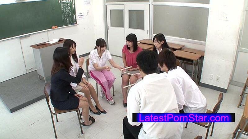 [NHDTA-779] 巨乳女教師5人が放課後の教室で生徒と王様ゲーム初体験!そして男は僕1人に…