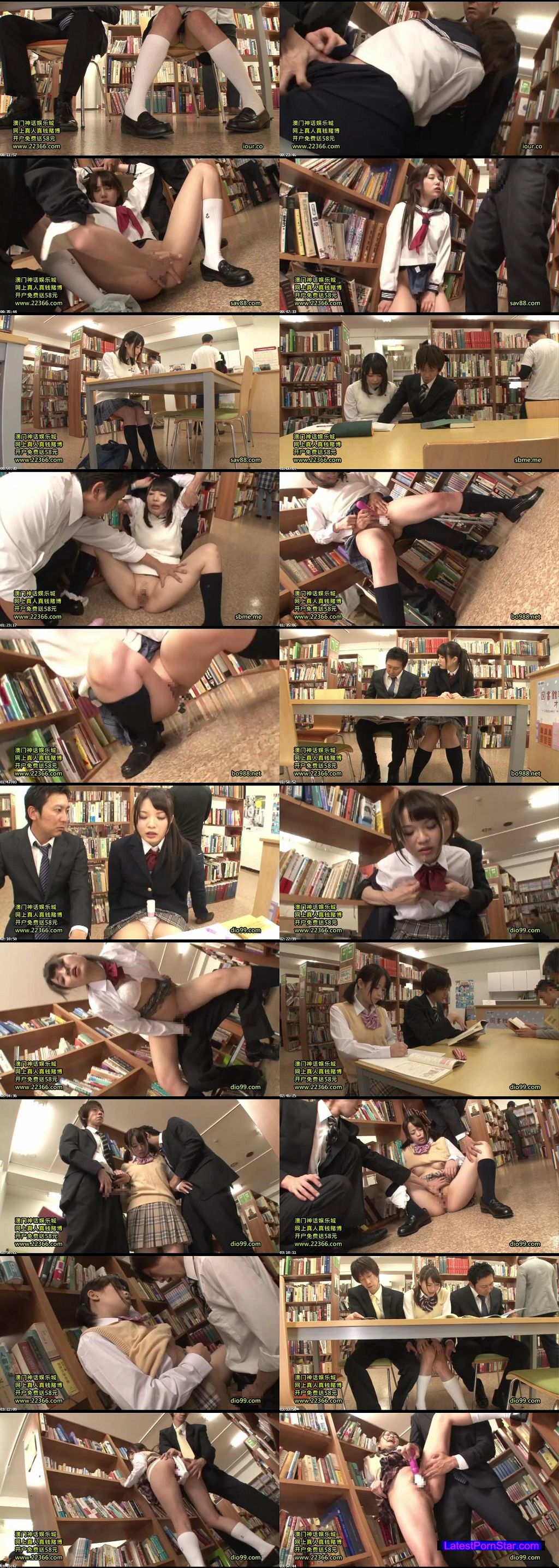 [AP-296] 図書館で勉強中の真面目ウブ女子校生を固定媚薬バイブ拘束で人知れずイカセまくれ!