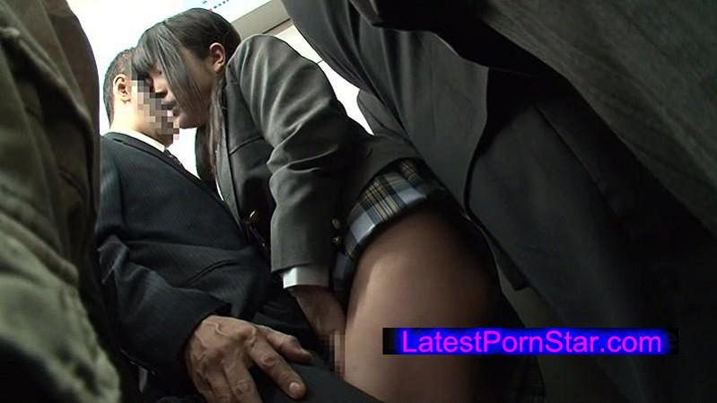 [NHDTA-790] 黒髪女子校生を痴漢して1回イカセたら発情し過ぎて電車内セックスを求めてきた