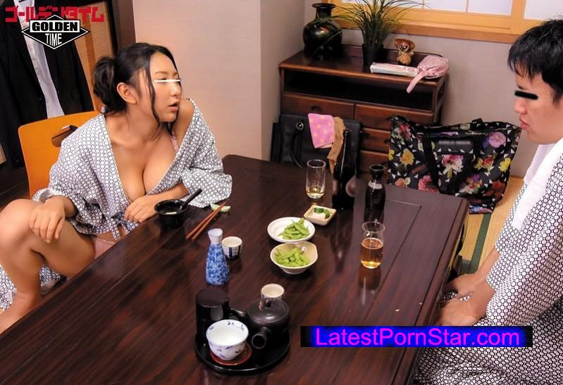 [GDHH-004] 出張先の温泉旅館で女上司と酒を飲んでいたらお説教に!次第に酔っ払ってきた女上司の浴衣が乱れノーブラ生爆乳が丸見え!当然、勃起してしまい…3