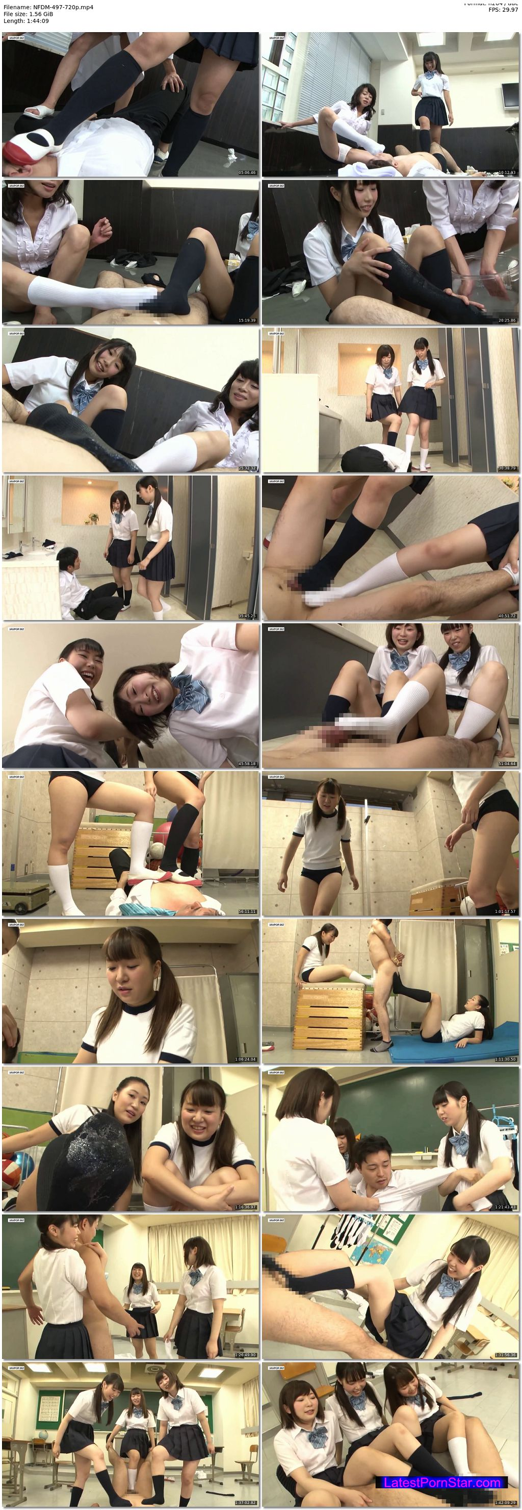 [HD][NFDM-497] 女子校生がハイソックスで怒りの電気あんま