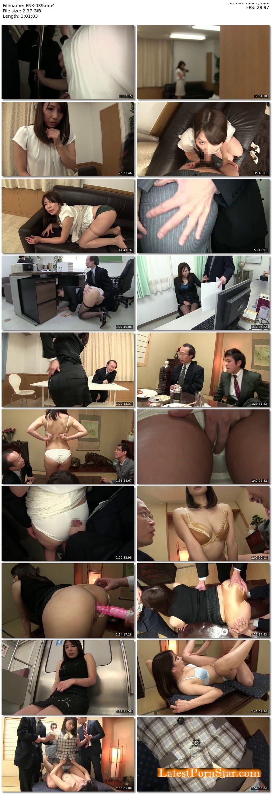 [FNK-039] スカートスーツ vs. パンツスーツ ぶっかけショールーム 女社長の美麗スーツ・片瀬仁美