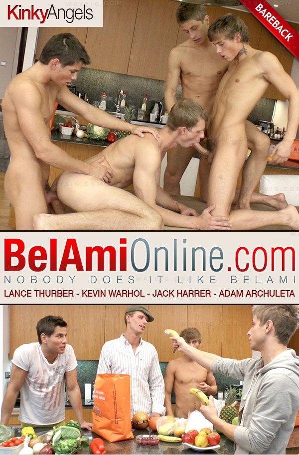 BelAmiOnline – Lance Thurber (with Kinky Angels) (Kevin Warhol, Jack Harrer & Adam Archuleta) (Bareback)