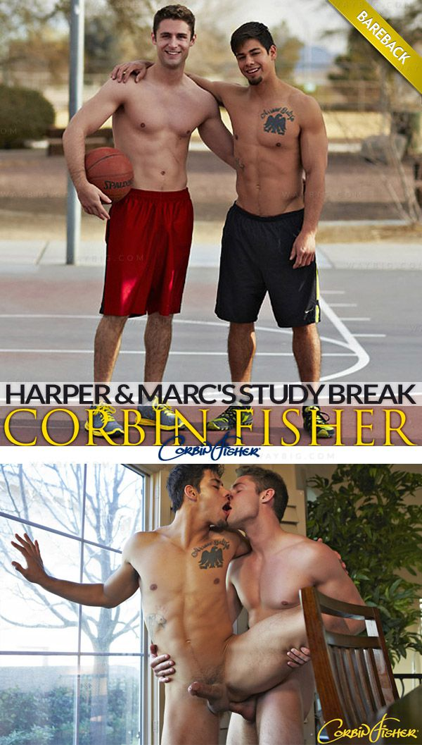 CorbinFisher – Harper & Marc's Study Break (Bareback)