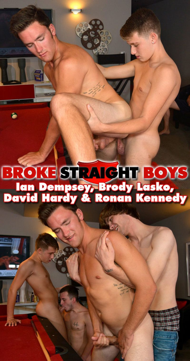Brody Lasko, Ian Dempsey, David Hardy & Ronan Kennedy's orgy