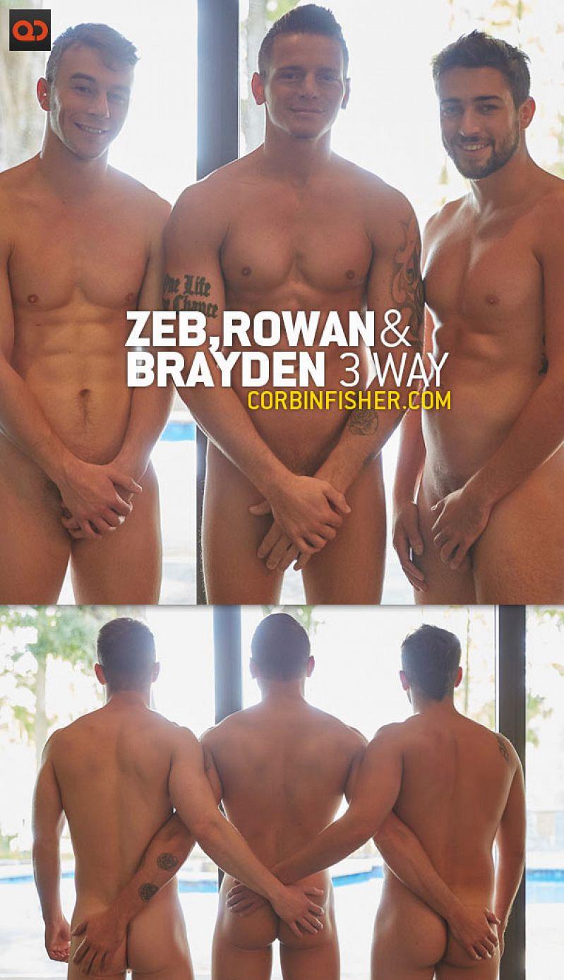CorbinFisher – Tampa: Zeb, Rowan & Brayden's 3-Way (Bareback)