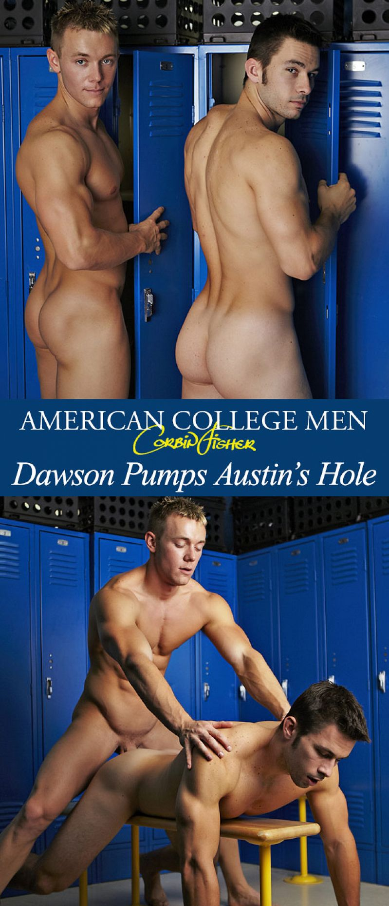 CorbinFisher – Dawson pumps Austin's hole bareback