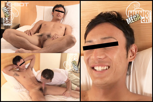 HUNK CHANNEL – BOT-0005 – 遼駿-RYOMA- 男のフェラ、男とのキス、ケツ穴指入れを初体験で2回発射!!
