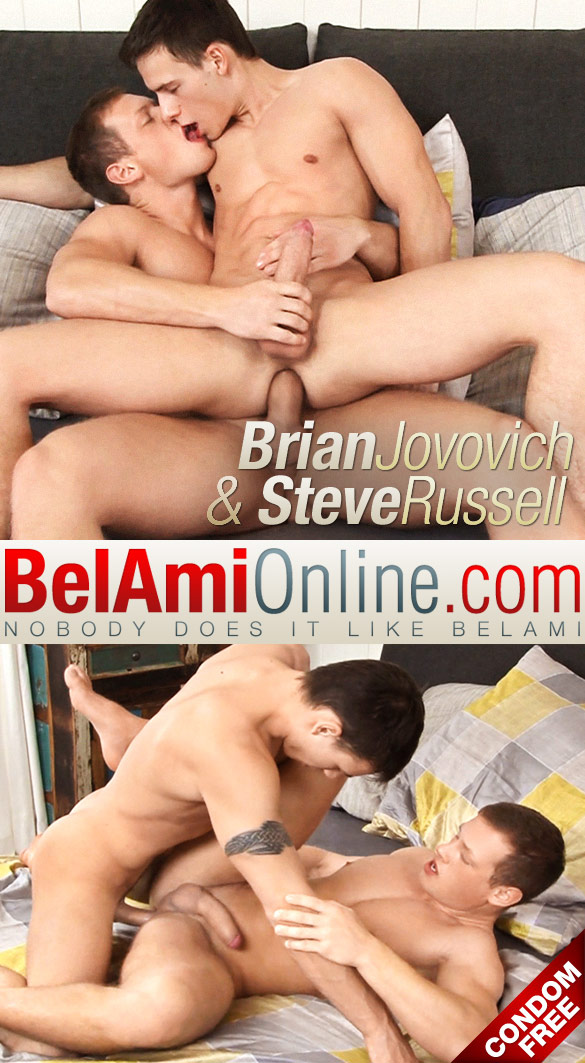 BelAmiOnline – Steve Russell and Brian Jovovich flip fuck raw