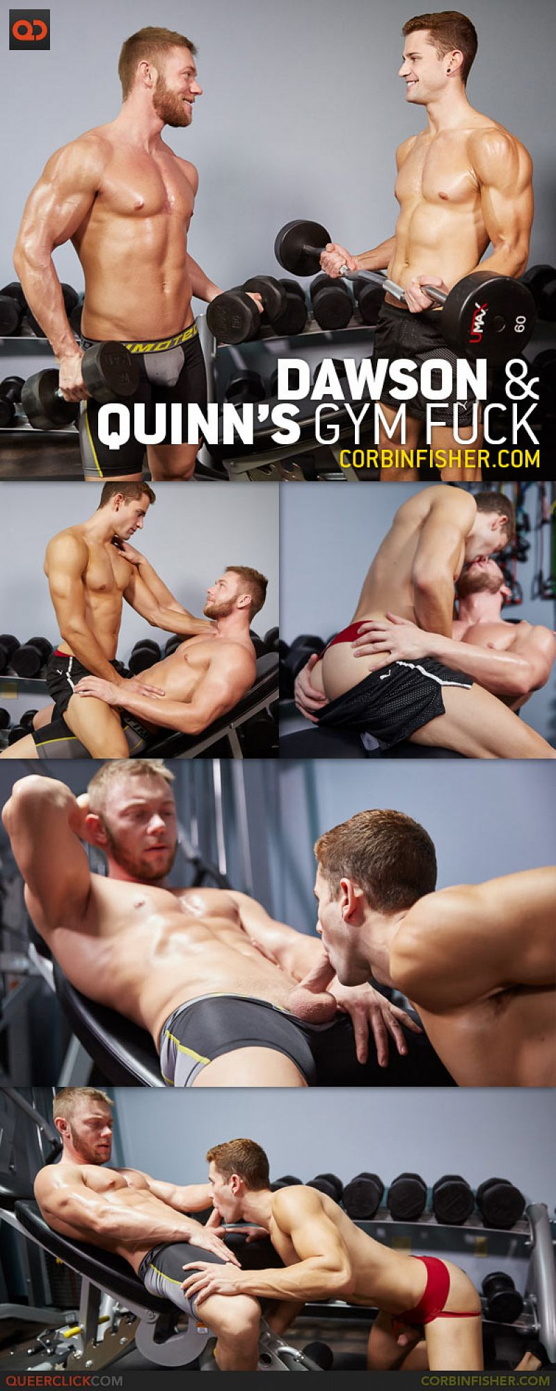 CorbinFisher – Dawson and Quinn's Gym Fuck