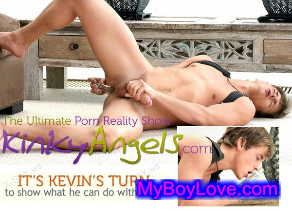 KinkyAngels – Kevin's Turn With Dildo
