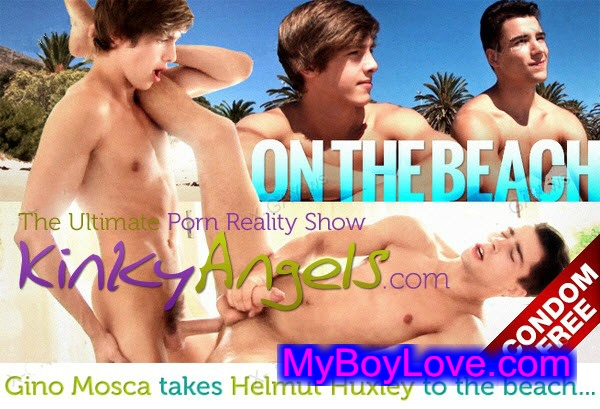 KinkyAngels – Gino Takes Helmut to The Beach