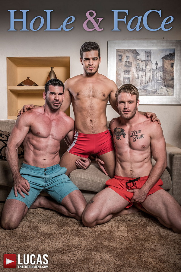 LucasEntertainment – Hole & Face | Rico Marlon, Shawn Reeve, Billy Santoro (Bareback)