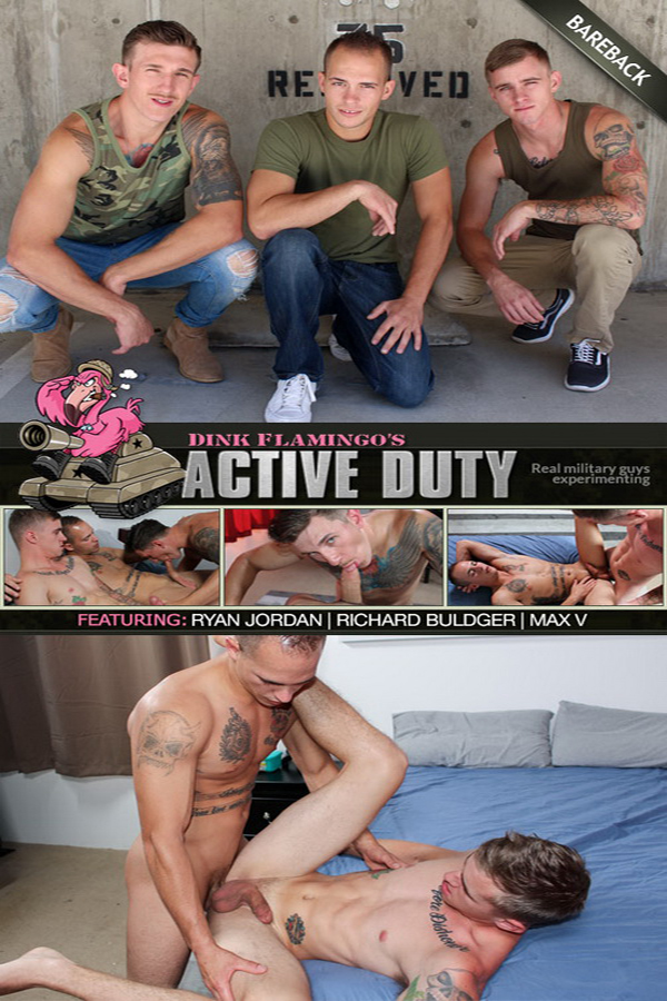 ActiveDuty – Richard Buldger, Ryan Jordan & Max (Bareback)