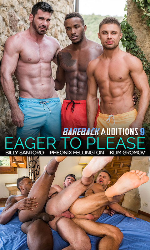 LucasEntertainment – Billy Santoro And Klim Gromov Share Pheonix Fellington's Big Black Cock (Bareback)