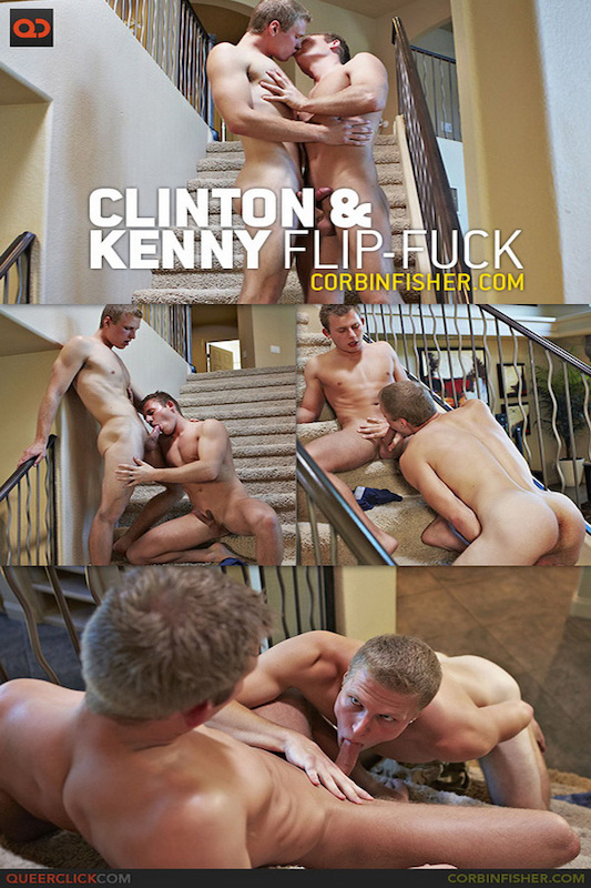 CorbinFisher – Clinton & Kenny Take Turns (Bareback)