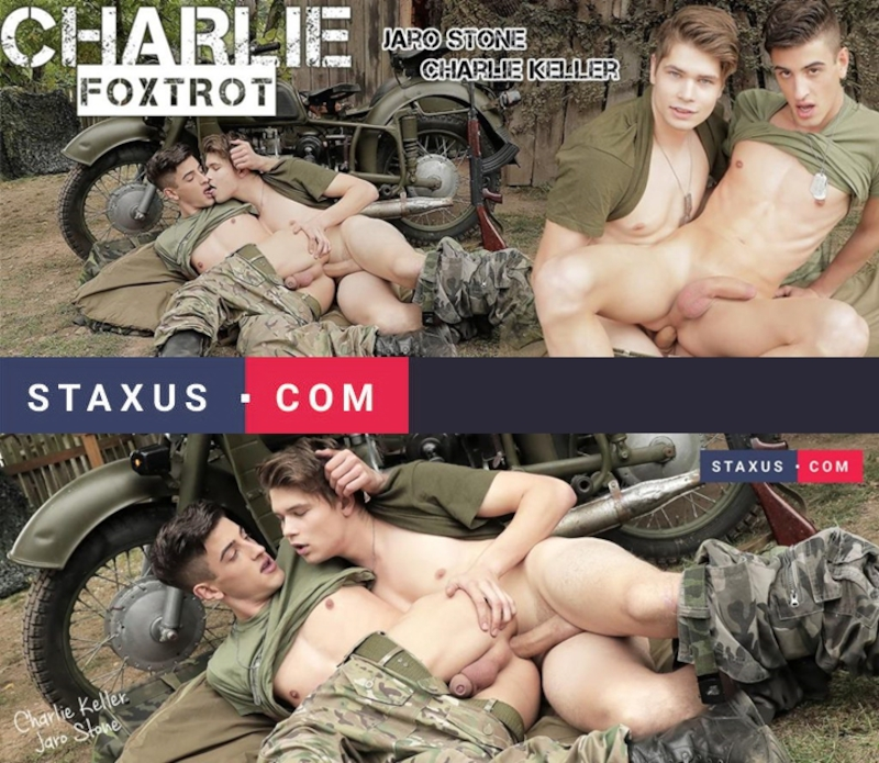 Staxus – Charlie Foxtrot, Sc.4: Battlefield Lovers Enjoy A Final Outdoor Push For Hard Cock!