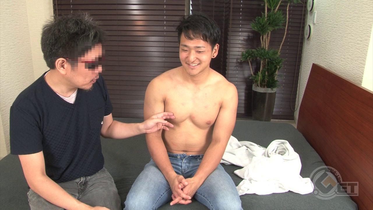 """Men's Rush.TV – GT-1238 – 胸筋が""""雄っぱい""""状態☆18歳の体育会少年が初男フェラで発射♂"""