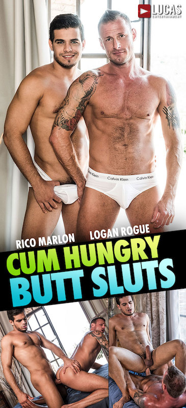 MEN – Cum Hungry Butt Sluts Scene 4: Rico Marlon Breeds Logan Rogue (Bareback)