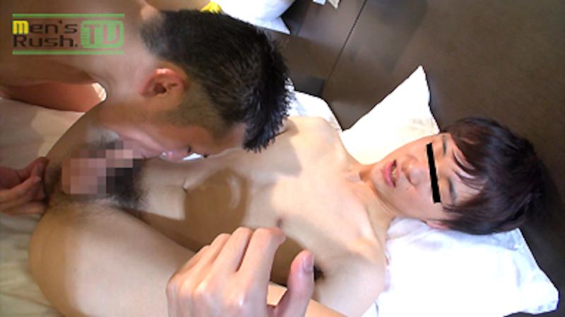 Men's Rush.TV – MR-KR1231 – HIROTOが黒短髪青年にフェラと手コキでチ○コを責められドピュッ☆