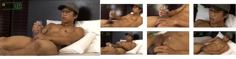 Men's Rush.TV – MR-ON599 – 初登場!色黒美筋なイケメンのオナホオナニー♪