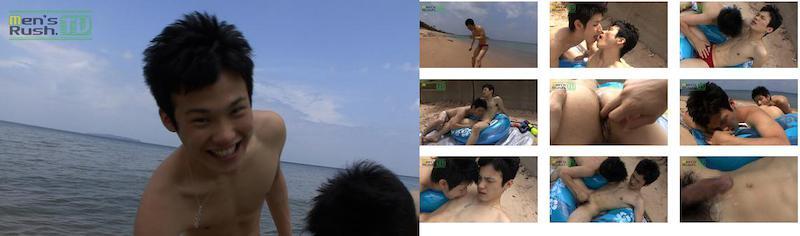 Men's Rush.TV – MR-TK069 – HIKARUが青い海で爽快フレッシュ手コキ体験☆