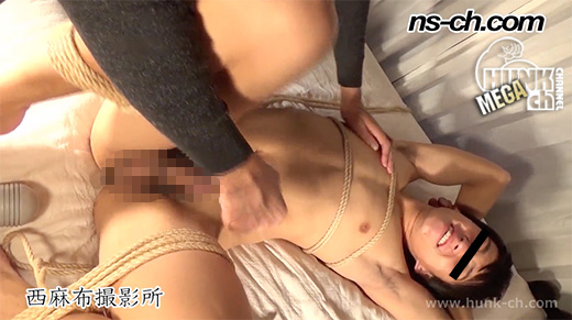 HUNK CHANNEL – NS-268 – 早漏ノンケを緊縛電マ責め!!2回射精で悶絶射精後責め!