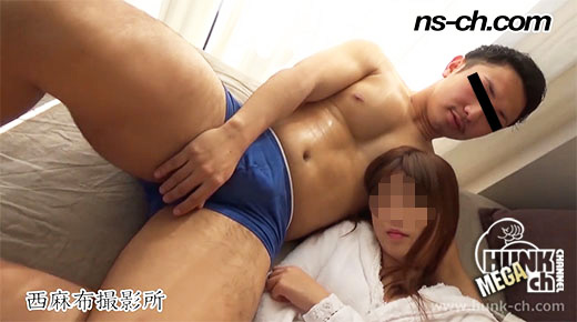 HUNK CHANNEL – NS-326 – ノンケのセックス事情!!ガチムチ部員の若カップルの過激プレイ!!