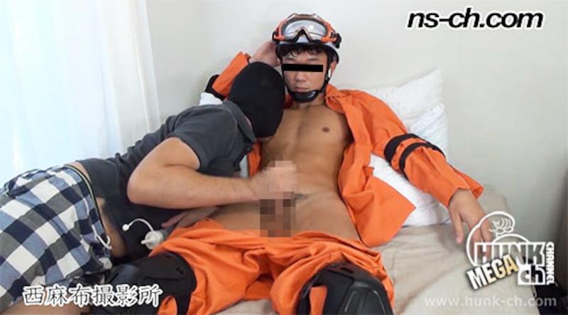 HUNK CHANNEL – NS-427 – しゃぶらせてくれる活動隊員たち(174cm62kg21歳)
