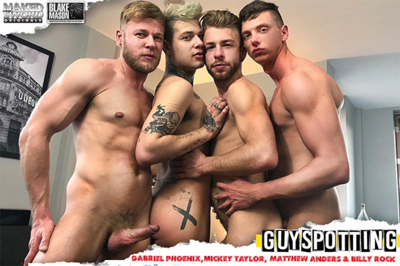 NakedSword – Guyspotting: Matthew Anders, Mickey Taylor, Gabriel Phoenix, Billy Rock