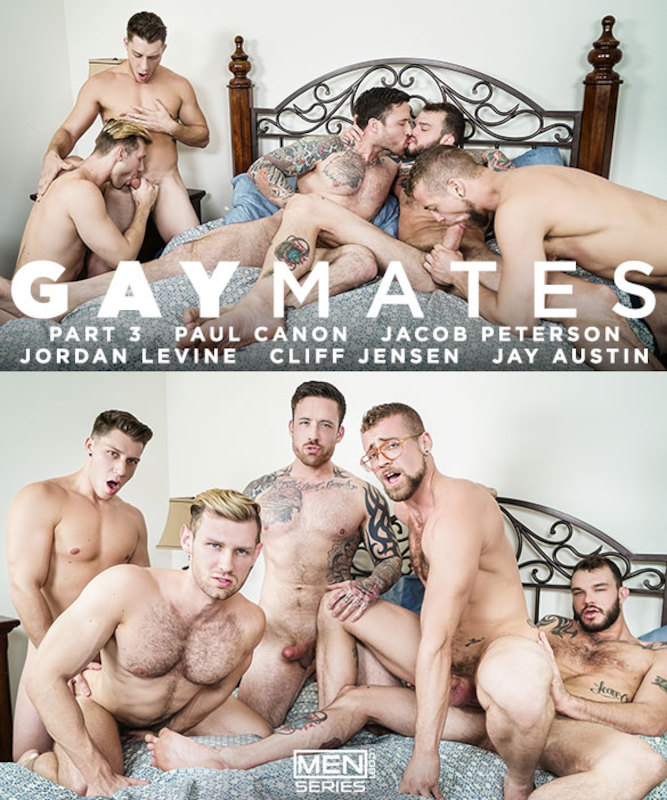 MEN – Gaymates Part 3 – Cliff Jensen, Jacob Peterson, Jay Austin, Jordan Levine & Paul Canon