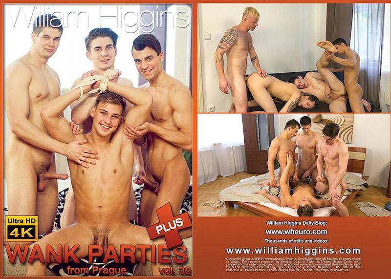 WilliamHiggins – Wank Parties Plus From Prague Vol. 32 (Bareback) / 2018