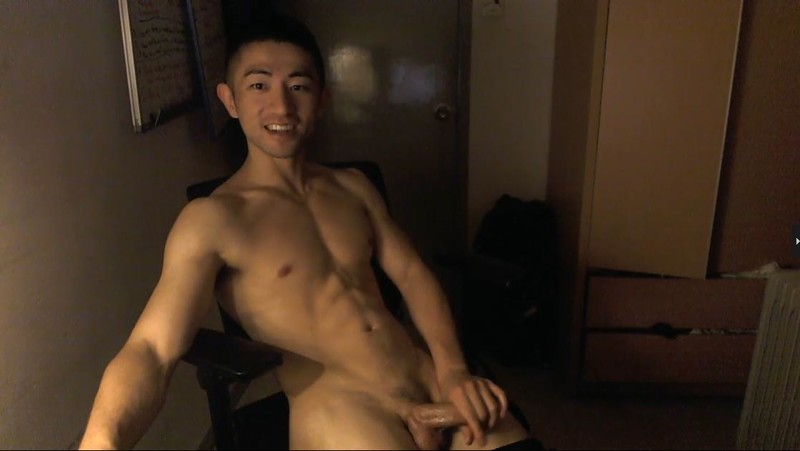Chinese maleshow – Live Broadcast – 6-Packs Fit Asian Jerking Part 3 筋肉男自画撮りSEX