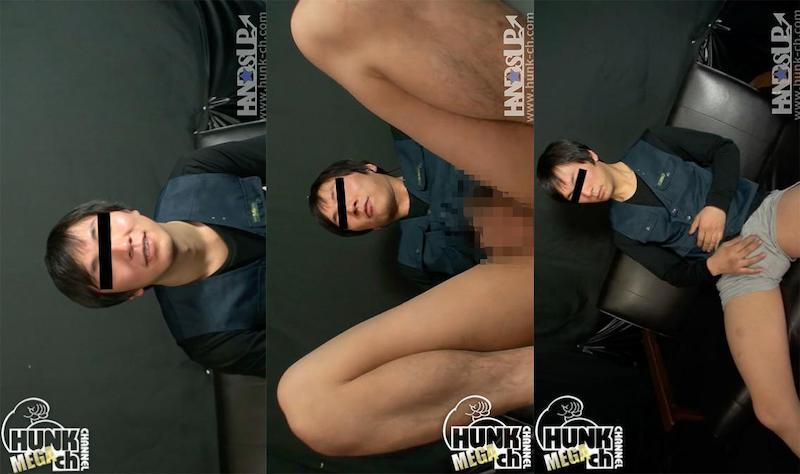 HUNK CHANNEL – HAND-0045 – 178cm70kg25才 現場系男子がカメラの前で初めて脱いでオナニー披露!