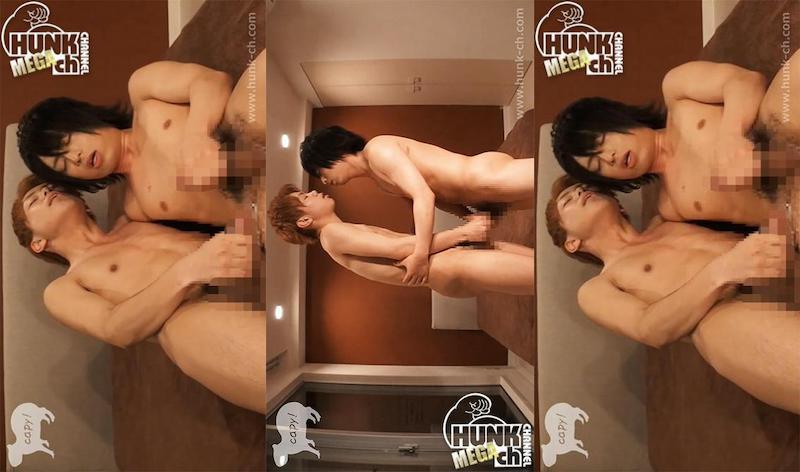 HUNK CHANNEL – KPP-0064 – まるで鏡のように超至近距離でアヘ顔見せつけ合い!興奮させ合って精液飛ばし合い!!