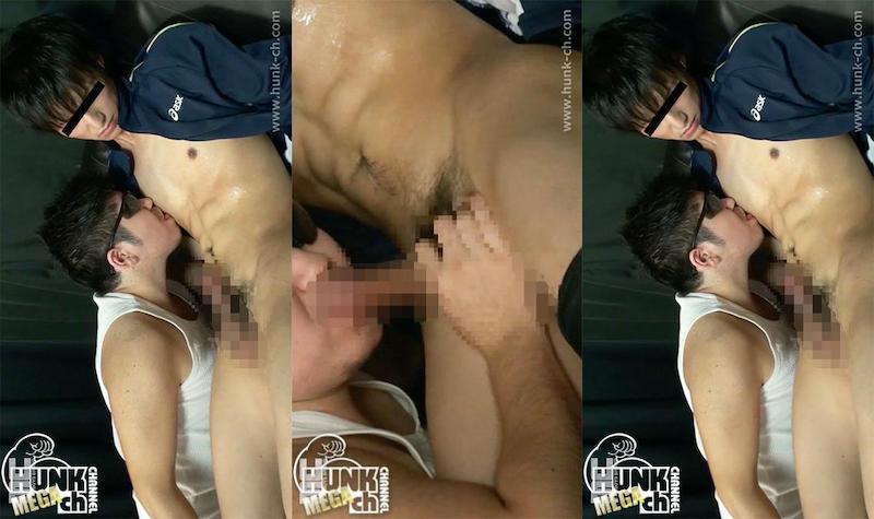HUNK CHANNEL – MENP-0871 – SAKIGAKE!男フェラ6 男が男に責められて本気で感じる表情、スリムでほどよく筋肉のついた陽平がキモゴーグルマンに責められ完堕ち!