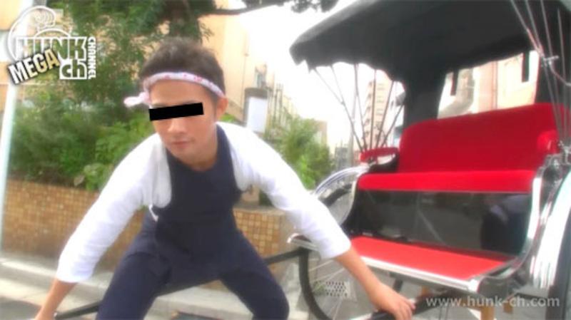 HUNK CHANNEL – MENP-0912 – 人力車男子 上杉大悟、イケメン爽やか俥夫がAVデビュー!!そして、人力車の中で野外オナニー!!