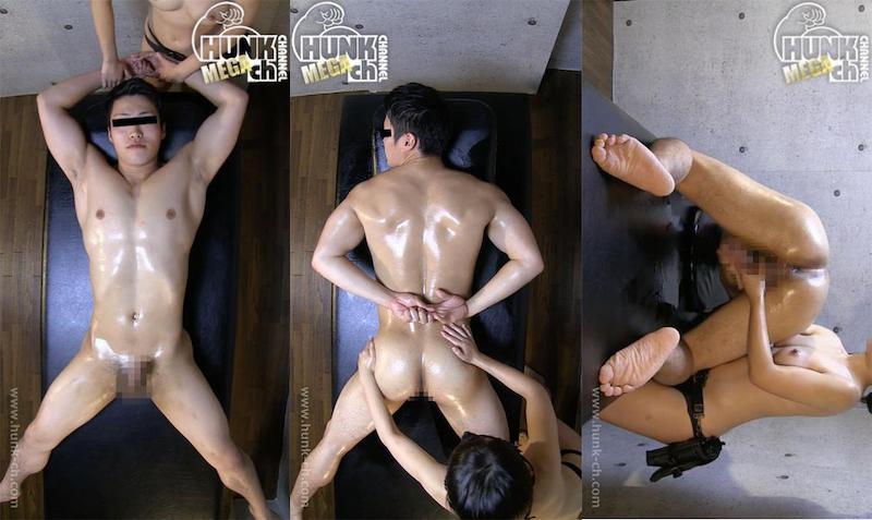 HUNK CHANNEL – MM-0043 –  ヒーリング♀エロマッサージでノンケの性感スイッチを強制爆突き!!水球凌太(りょうた)20歳の筋肉刺激でデカマラびんびん!!!
