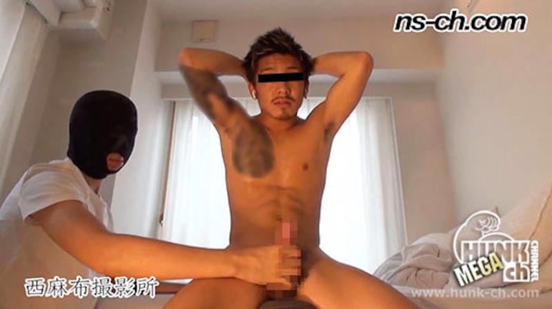 HUNK CHANNEL – NS-500 – ガテン系一重カッコ可愛いノンケを手コキ抜き!!