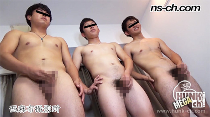 HUNK CHANNEL – NS-709 – 体育会男子の合同オナニー(175cm77kg20歳・170cm72kg20歳・168cm68kg19歳)