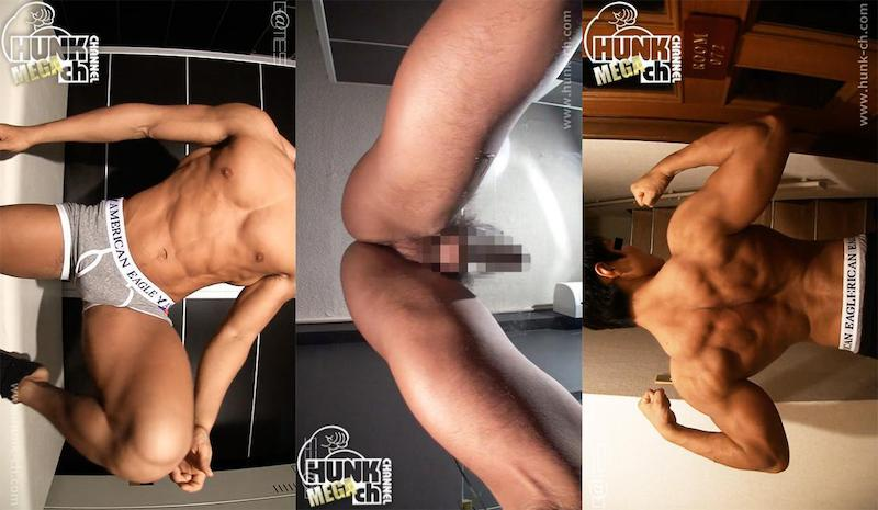 HUNK CHANNEL – GV-OGVR040 – 165cm67kg23歳ウエイトトレーニング、全身超筋肉!!鬼の顔のような背筋が凄すぎる拓真(たくま)くん!!濃厚雄汁が糸を引く!!!