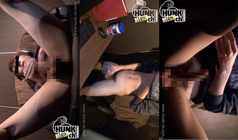 HUNK CHANNEL – SZK-0027 – ネットカフェのんけリアル盗撮!!超イケメンイマドキ男子がデスクに脚をのせてM字開脚で豪快オナニー!!