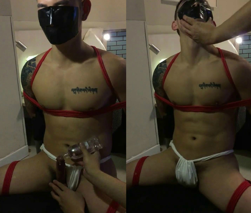 Chinese maleshow – Amateur Contribution – Tied-Up Tattooed Hunk 縛・泰男・欲望剥出