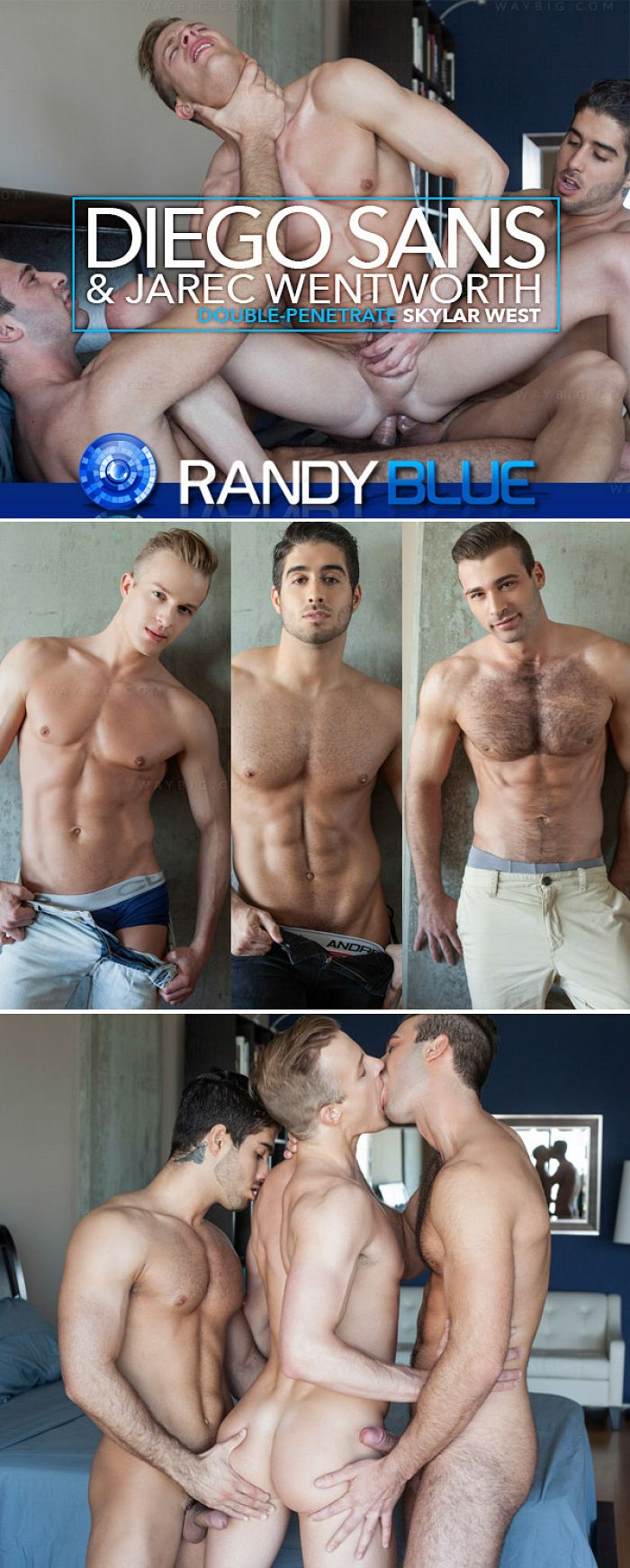 RandyBlue – Diego Sans & Jarec Wentworth Double-Penetrate Skylar West