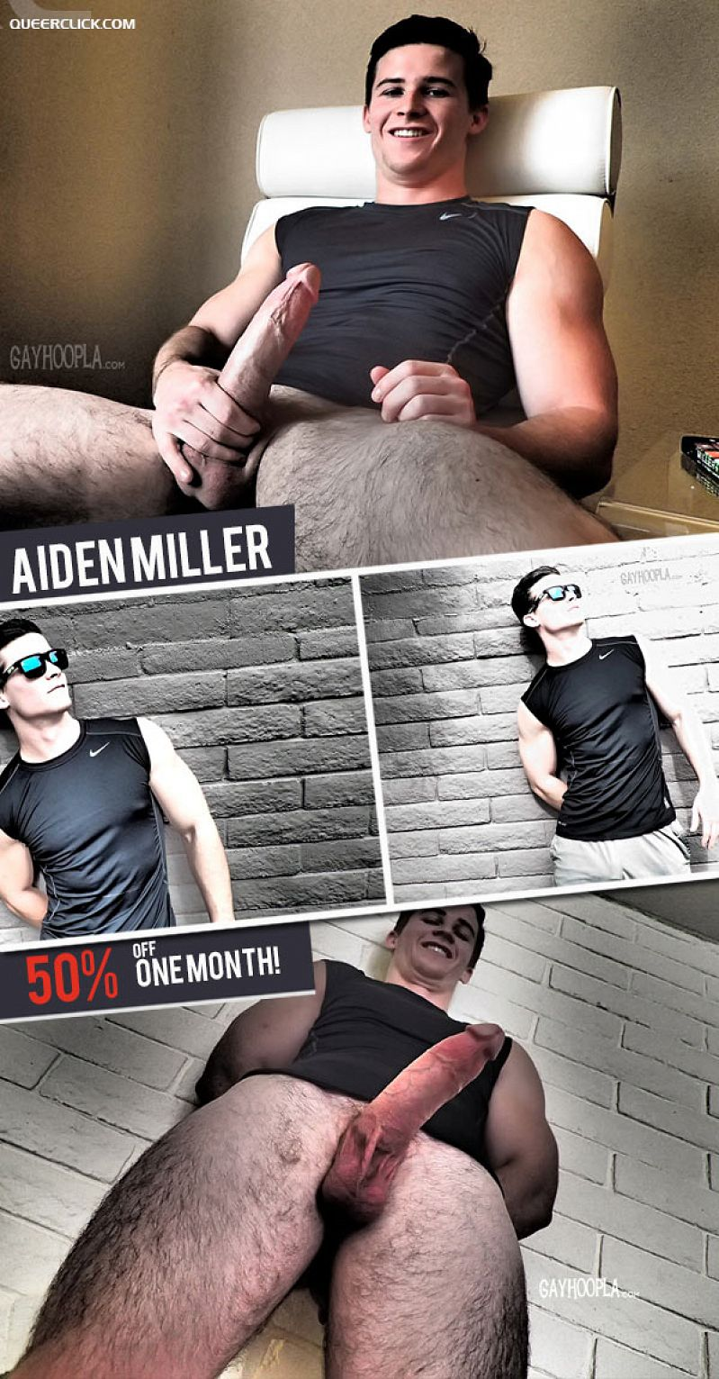 Aiden Miller (Jerks His Big, Thick Cock)